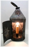 6in dia. Revere Custom Art Deco Perforated Lantern