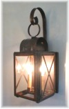 6x9 (exterior) open base banded copper-brass-pewter-lanterns